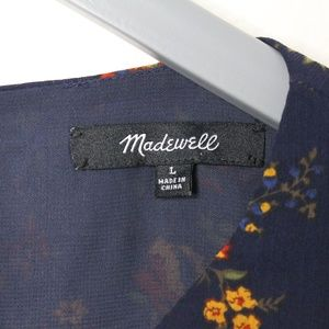 Madewell Tops - Madewell Ruffle Long Sleeve Floral Top L
